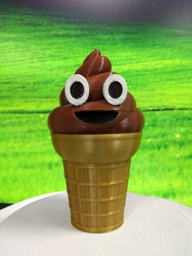 Ice cream Emoji or Poop on a Cone 3D Print 116692