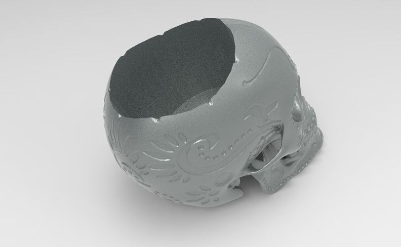 SUGAR SKULL (UPDATED) Added new file 12-1-16 3D Print 116722