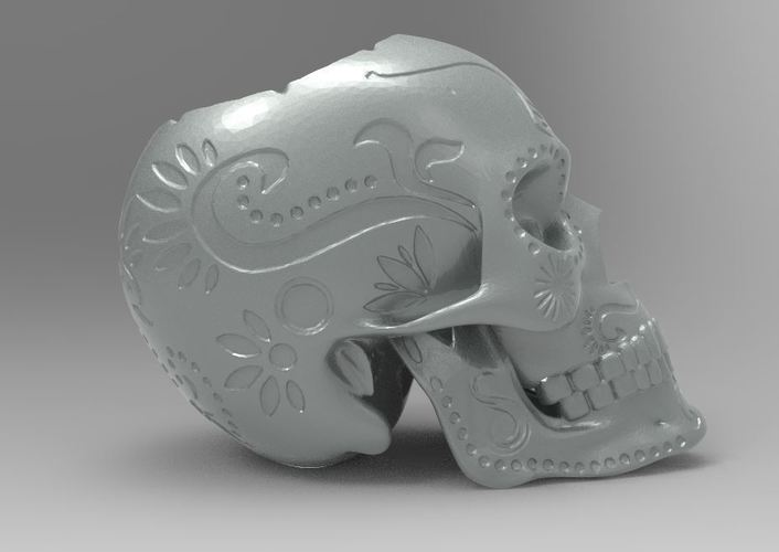 SUGAR SKULL (UPDATED) Added new file 12-1-16 3D Print 116723