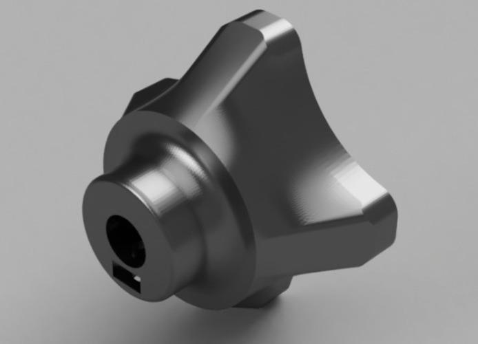 3D Printed 8mm Tuner / Knob by Patrick Li | Pinshape