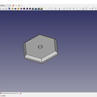 Small 25mm (across flat) Hexbase with 3mm hole 3D Printing 116838
