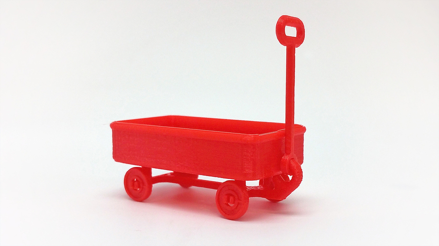 Red Wagon and possible SD card holder 3D Print 116869