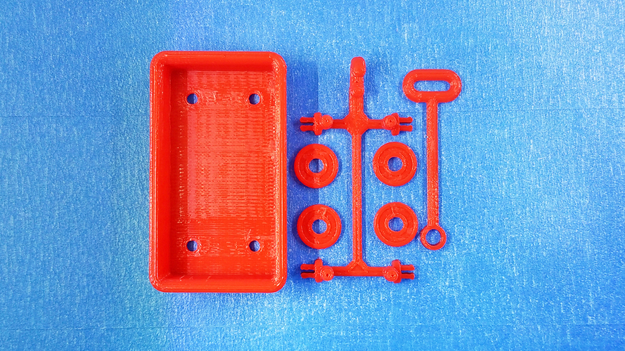 Red Wagon and possible SD card holder 3D Print 116870