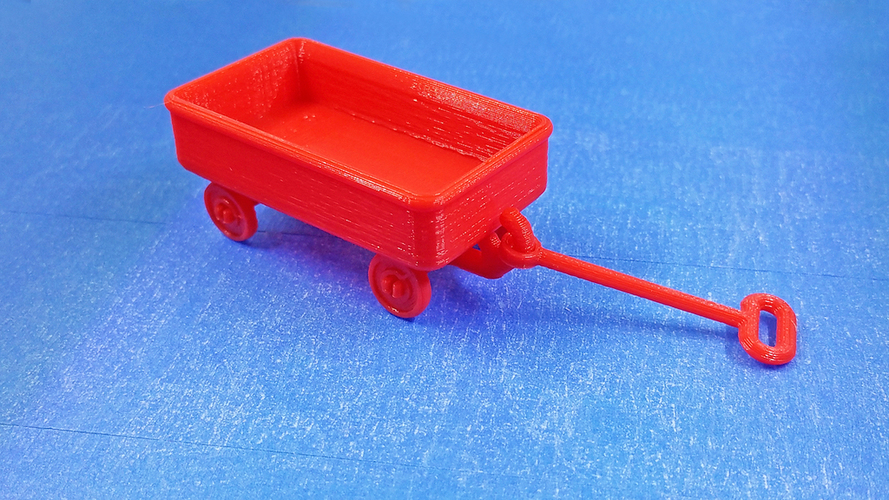 Red Wagon and possible SD card holder 3D Print 116873