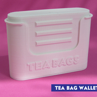 Small Tea bag wallet 3D Printing 116949