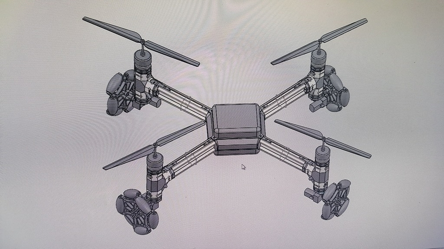 MakeWiths Flying Mongster - Land Air Sea Quadcopter 3D Print 116952
