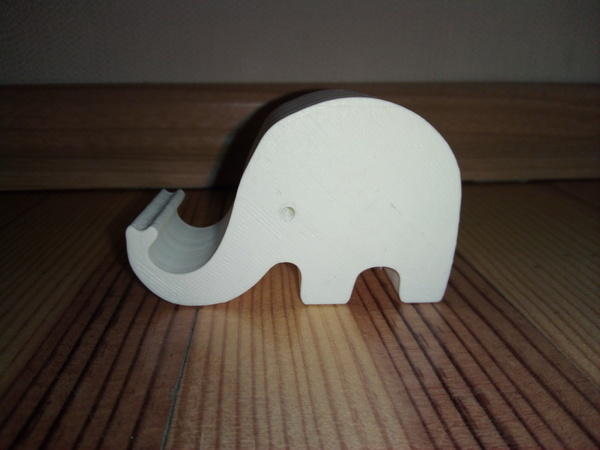 Medium Phone holder elephant 3D Printing 116989
