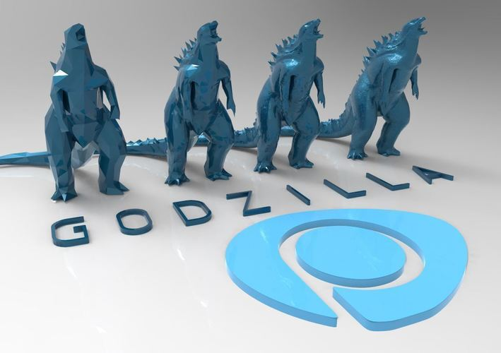 Godzilla - Scream- Multiple Resolution 3D Print 116994