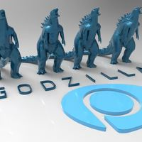 Small Godzilla - Scream- Multiple Resolution 3D Printing 116994