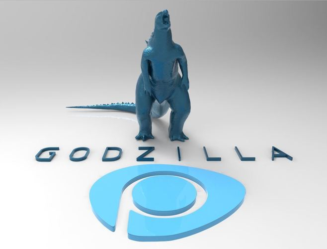 Godzilla - Scream- Multiple Resolution 3D Print 116995