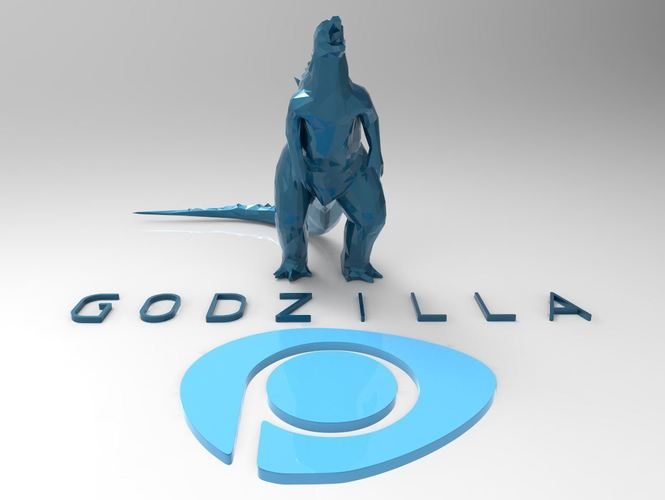 Godzilla - Scream- Multiple Resolution 3D Print 116997