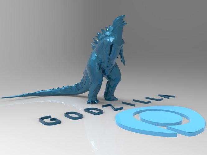 Godzilla - Scream- Multiple Resolution 3D Print 117000
