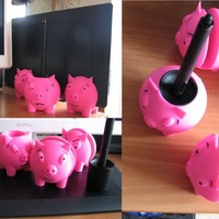 "Small Wacom Intuos Pro stand ""Three piggies"" 3D Printing 117017"