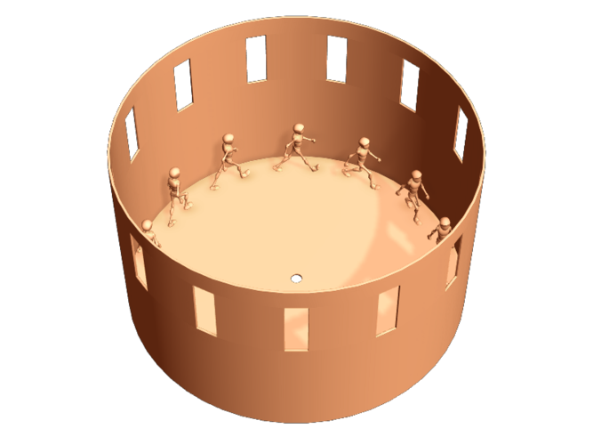 3d printed zoetrope by pixels and polygons pinshape