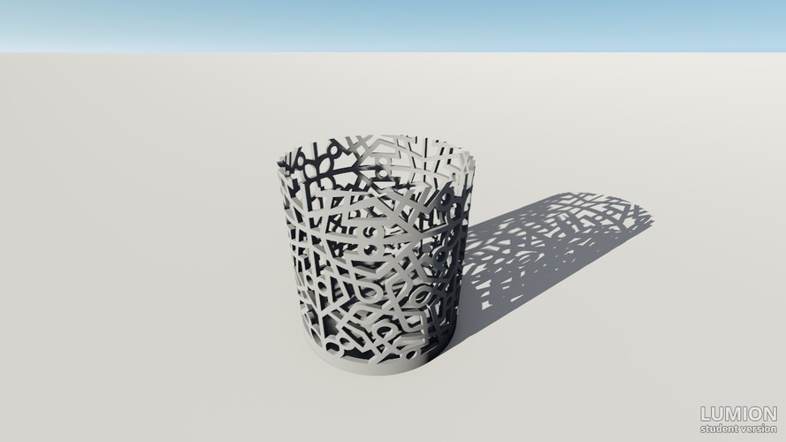 Pencil Cup Holder with Design 3D Print 117201