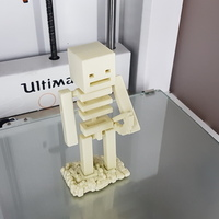Small Minecraft skeleton with bow 3D Printing 117279