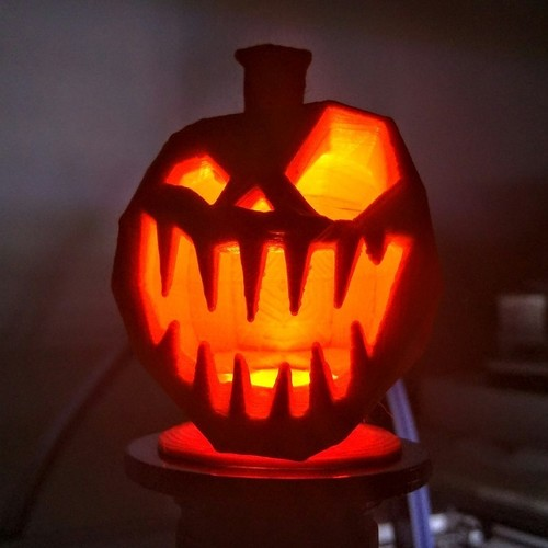 Torch display pillar for bigger little pumpkins 3D Print 117288