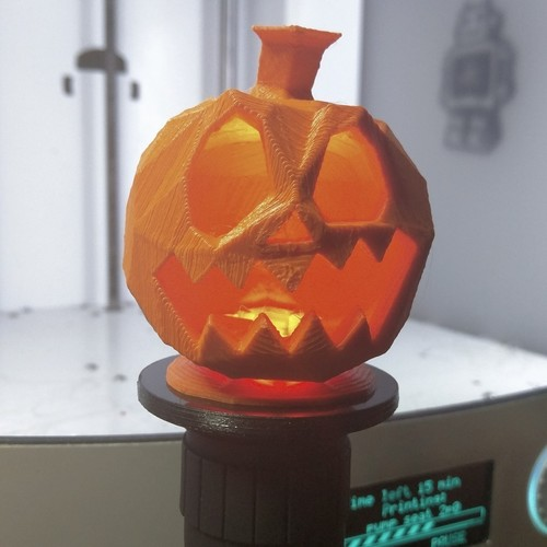 Torch display pillar for bigger little pumpkins 3D Print 117289