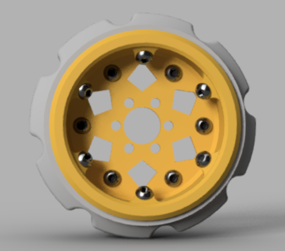 Experimental 2.2 Comp Wheel 3D Print 117450