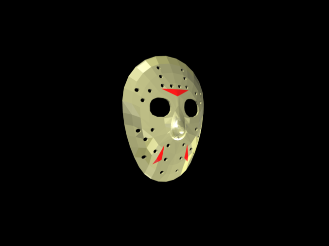 Jason Voorhees Hockey Mask - Friday the 13th 3D Print 117469