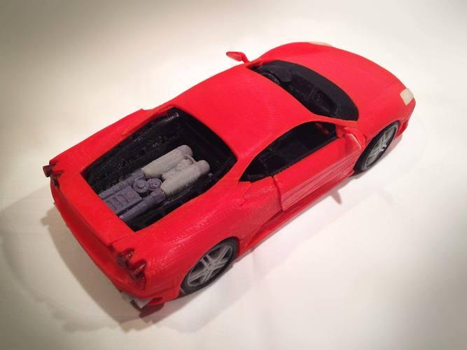 3d printed italian sports car model by mao pinshape - 3d printer italia ...