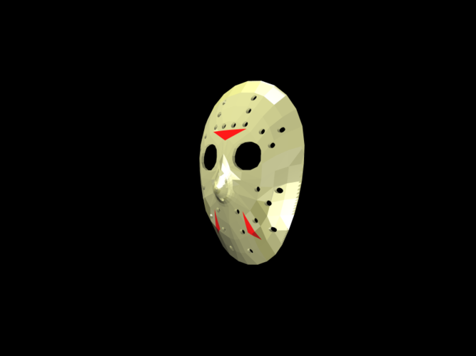 Jason Voorhees Hockey Mask - Friday the 13th 3D Print 117471