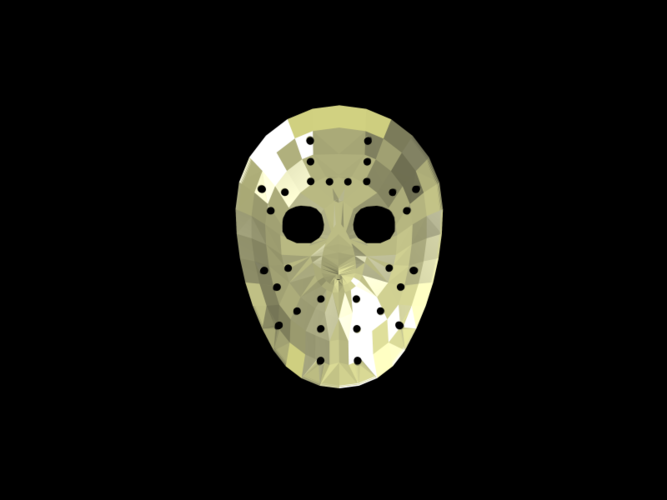 Jason Voorhees Hockey Mask - Friday the 13th 3D Print 117472