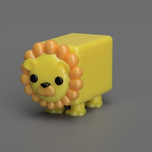 Albert the Lion  3D Print 117489
