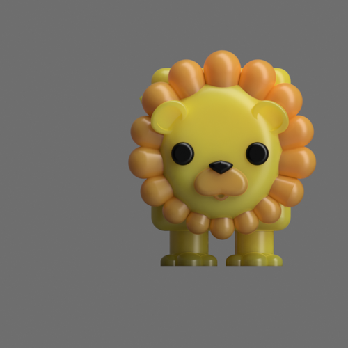 Albert the Lion  3D Print 117500
