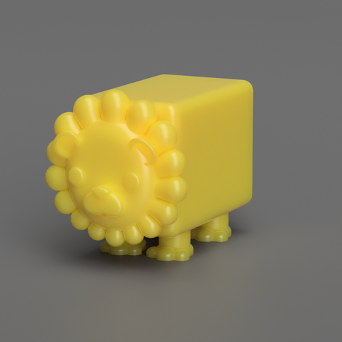 Albert the Lion  3D Print 117501