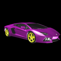Small Purple Lamborghini 3D Printing 117541