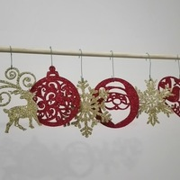 Small christmas ornaments 3D Printing 117612