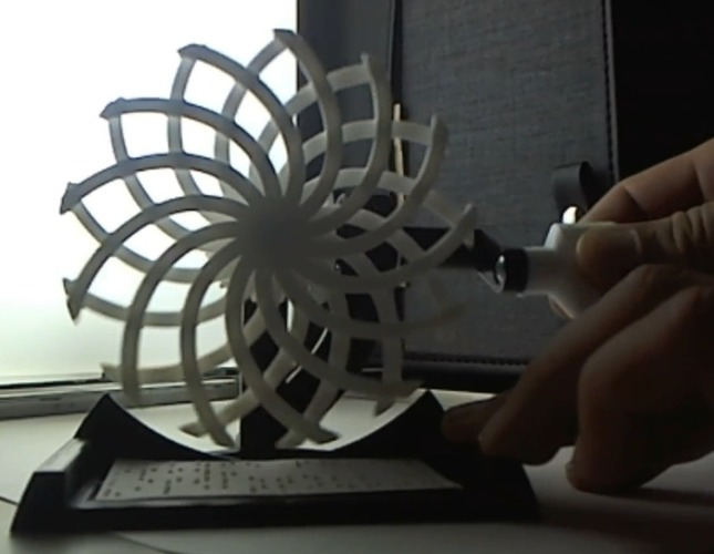 JUST RELEASED! Desktop Kinetic Art #001 3D Print 117690