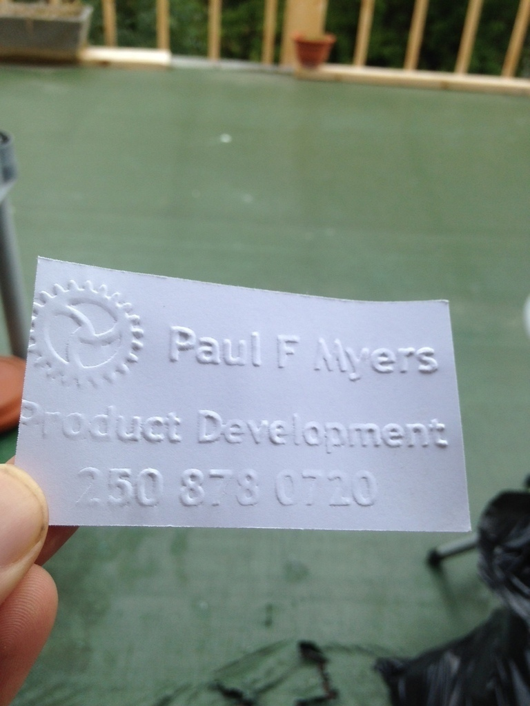 3D Printed Pocket Business Card Press V 4.0 by paul_myers | Pinshape