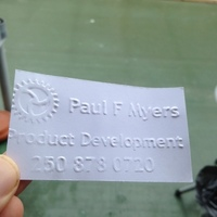 Small Pocket Business Card Press V 4.0 3D Printing 117699