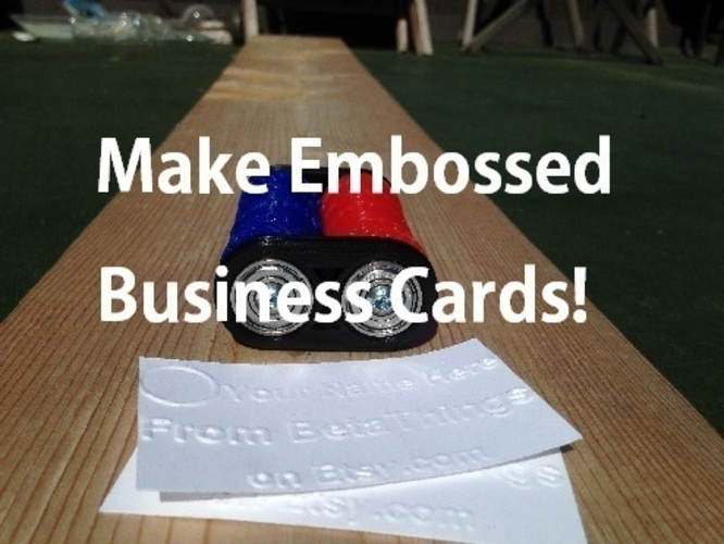 Pocket Business Card Press V 4.0 3D Print 117702