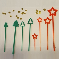 Small HOLIDAY PARTY PICKS AND SWIZZLE STICKS 3D Printing 117740