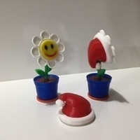 Small 1 Flower in Pot 3D Printing 117750