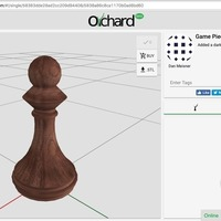 Small Pawn Chess Piece  3D Printing 117771