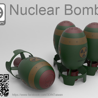 Small Nuclear bomb 3D Printing 117786