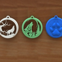 Small Wolf keychain 3D Printing 117808