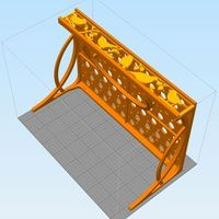 Small Designer Shelf w/Three Designs 3D Printing 117840