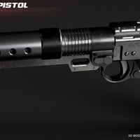 Small A180 blaster pistol Jyn Erso 3D Printing 117893