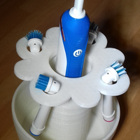 Small Toothbrush Flower Holder 3D Printing 117896