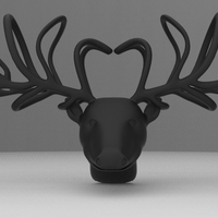 Small Reindeer Bow tie 3D Printing 11791