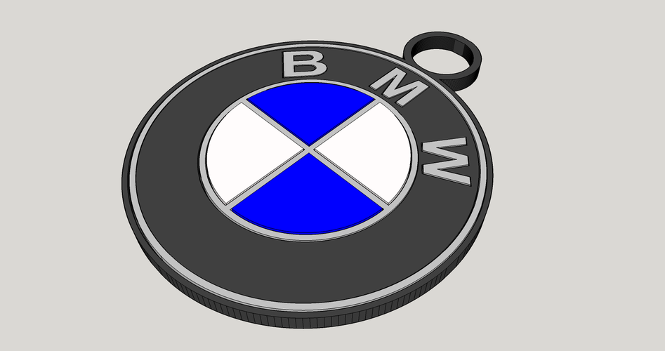 BMW key chain 3D Print 117911