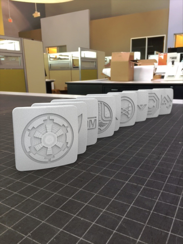 80's Movie Logo Badges 3D Print 117940