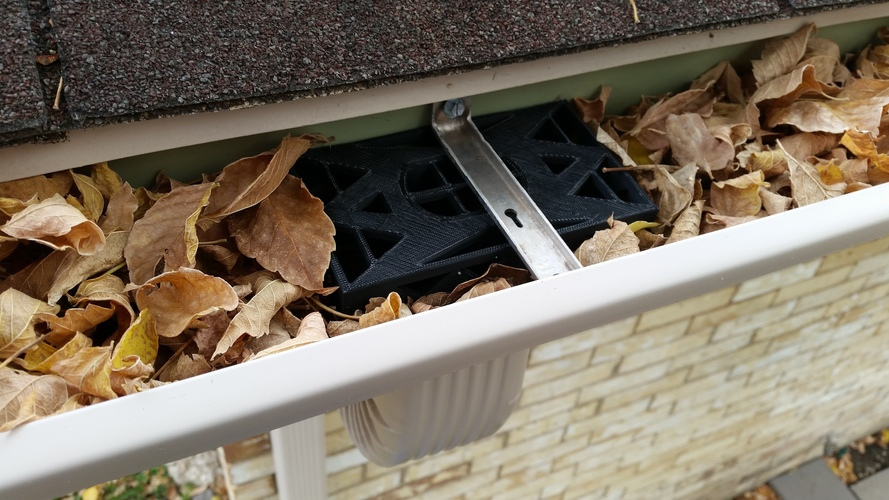 Gutter Downspout Filter 3D Print 117997