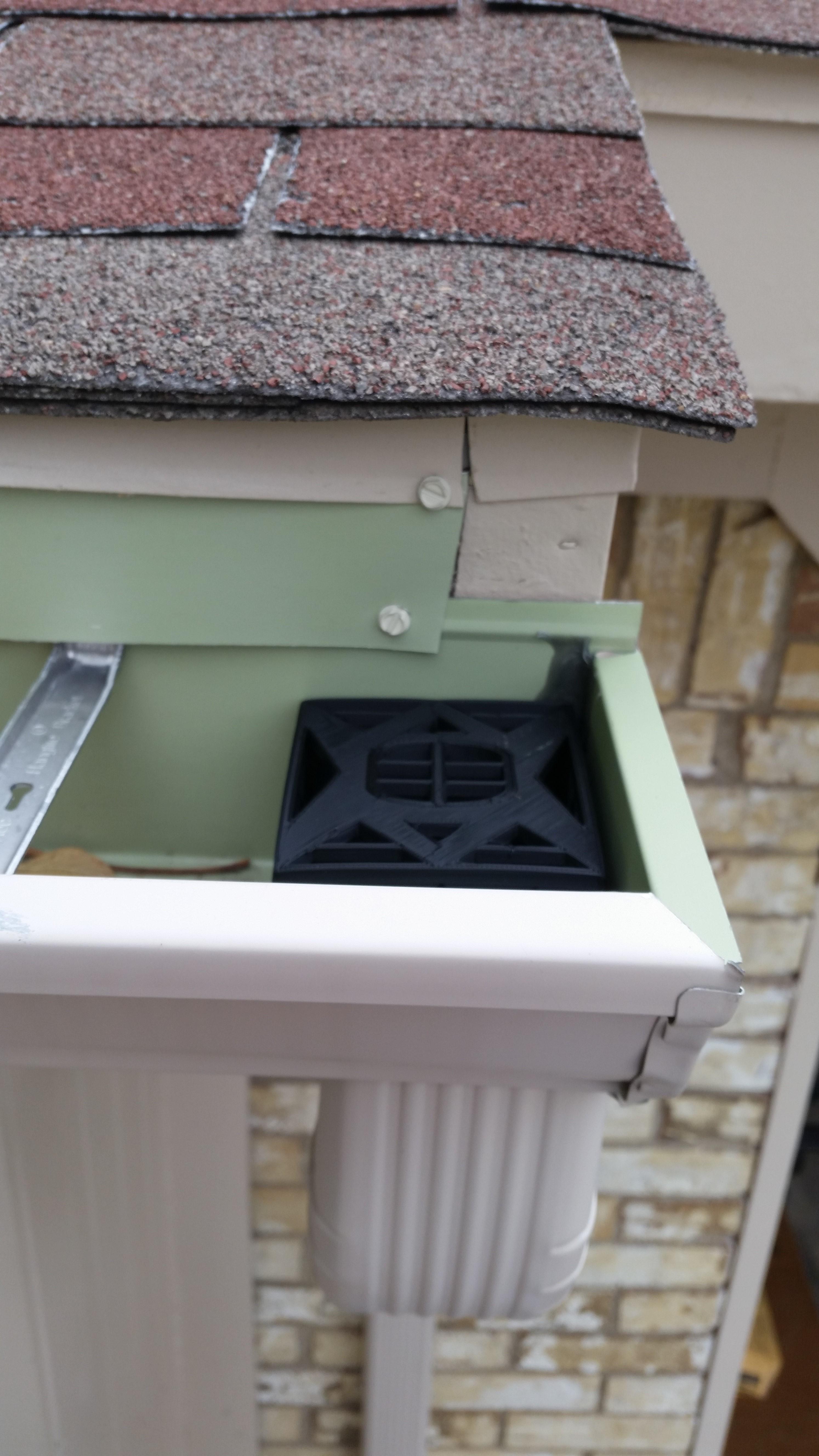Gutter Downspout Filter Corner Section Pinshape