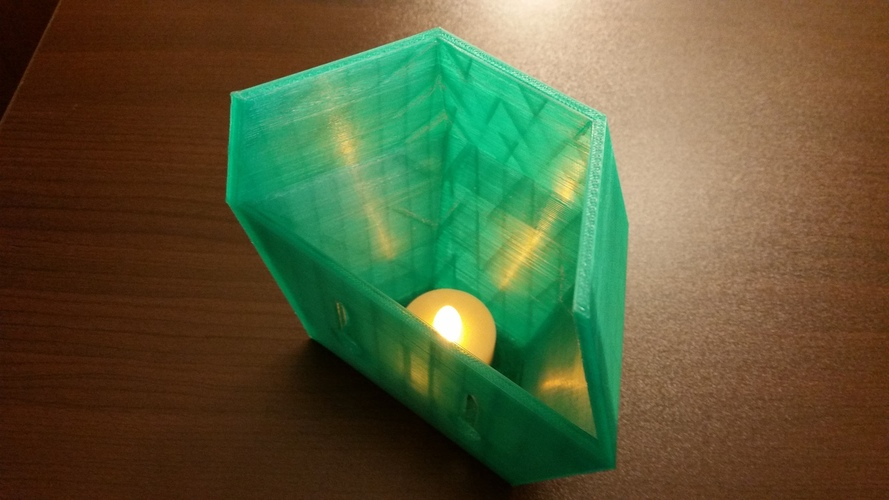 Wall sconce for LED tea light 3D Print 118007